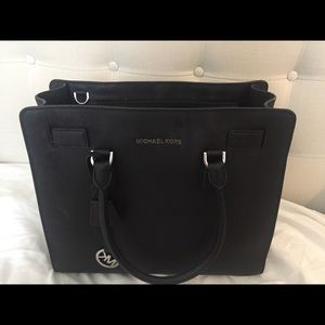 Michael Kors Black bag with silver hardware
